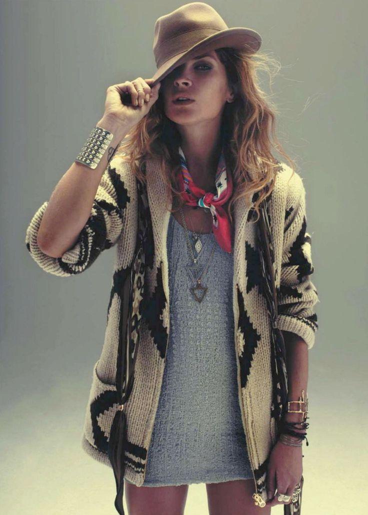 erin wasson: Fur Coats, Sweaters, Bohemian Fashion, Style, Erin Wasson, Dresses, Cowgirl, Erinwasson, Tribal Prints