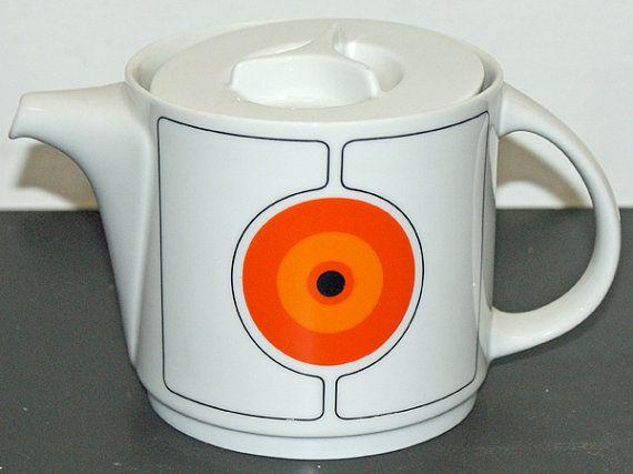 Mid Century Modern Teapot, Space Age Design 1970s on Etsy, $40.57