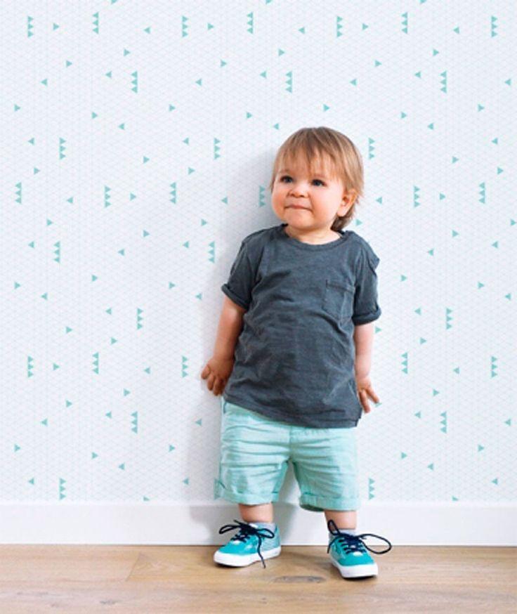 20 best collaborations images on pinterest baby boy - Habitaciones con papel pintado ...