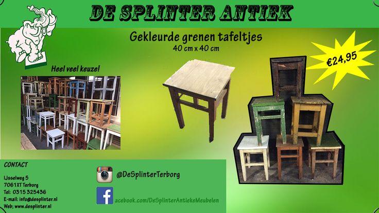 Antieke kleine tafeltjes Antique small tables Antike tische