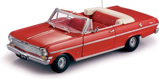 1963 Chevy Nova Convertible - Riverside Red (Sun Star) 1/18