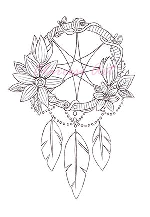 detailed dream catcher coloring pages - photo#40