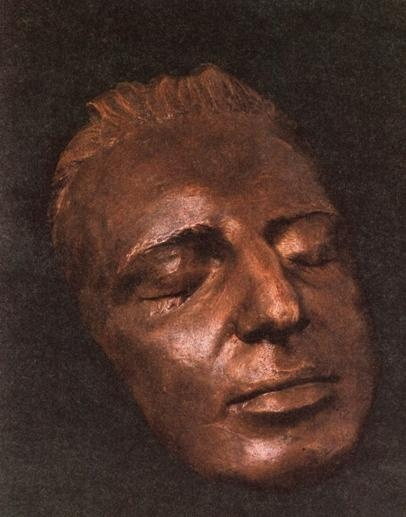 """death mask of Mozart. """"Wolfie"""" was much more attractive than the paintings of him."""