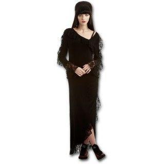 TENUE CORRECTE EXIGÉE  Votre Faucheuse a eu un véritable coup de coeur pour cette magnifique robe de soirée gothique.  Tout est réuni pour vous séduire ...