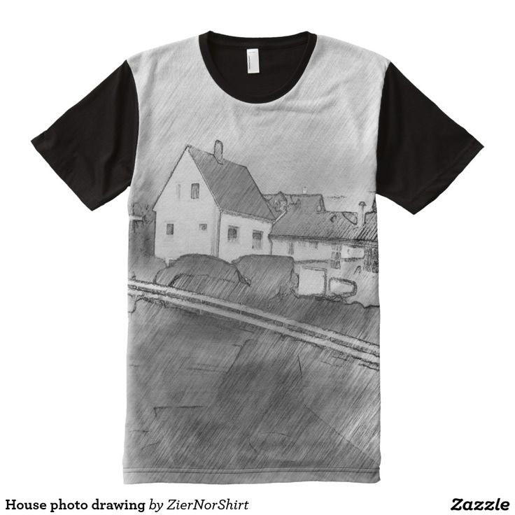 House photo drawing All-Over print t-shirt
