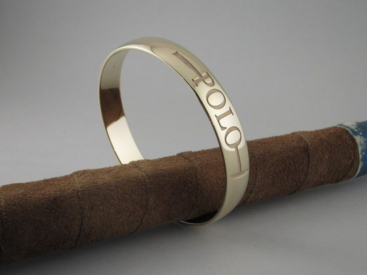 """EB60 - Gold Polo """"The Sport of Kings"""" Bangle – The Cambridge Collection"""