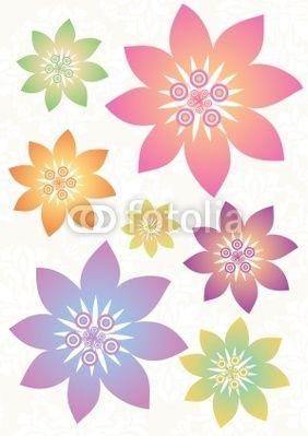 Stock Vector Illustration: Fleur ensemble