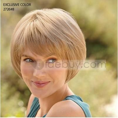 Plus Size Bob Haircuts | Custom Cute Bob Hairstyle Short Straight about 6Inches Strawberry ...