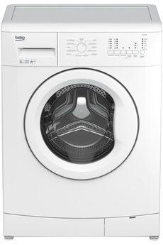Lave linge hublot Beko LLF06W1, Capacité 6 kg (tambour 39 L) - A++, Essorage variable jusqu'à 1200 tr/min, Départ différé 3/6/9 heures, Faible profondeur (41.5 cm) - Programme Textiles foncés