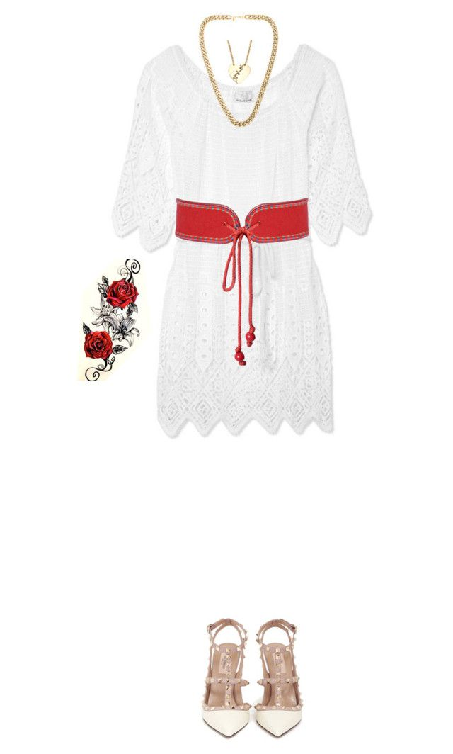 """""""Untitled #139"""" by futte22 on Polyvore featuring Miguelina, Yves Saint Laurent, Kenneth Jay Lane, Marc by Marc Jacobs and Valentino"""