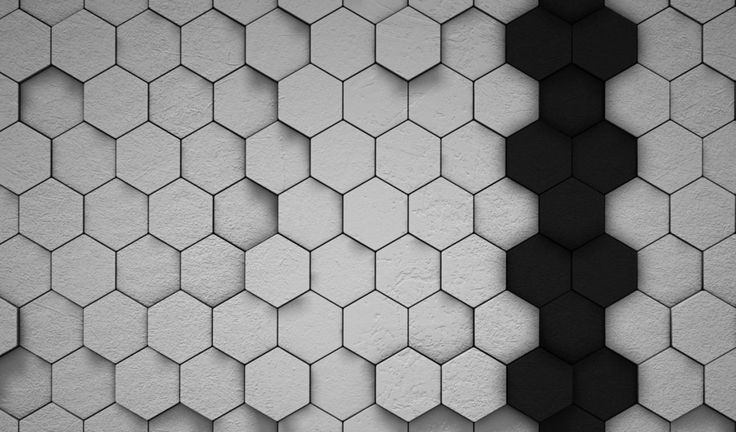 gray hexagon