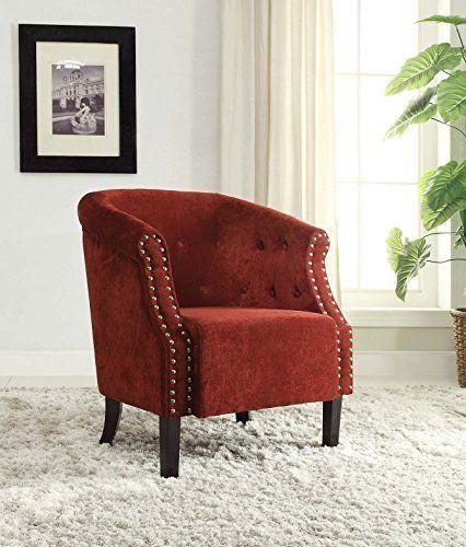 Linon Tyrone Upholstered Barrel Chair