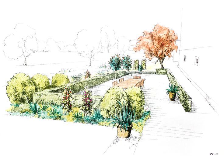 Best Landscape Design Renderings Images On Pinterest