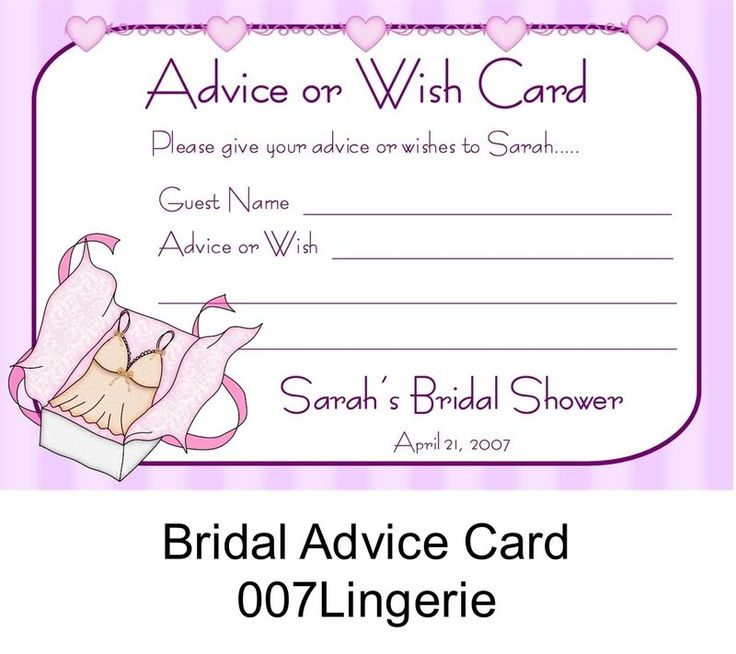 lingerie bridal shower games bridal wedding shower advice wish cards
