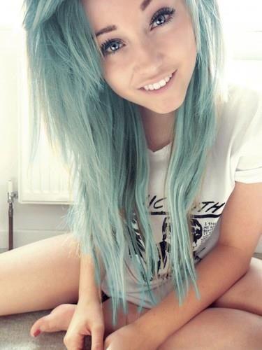 So cute #bluehair