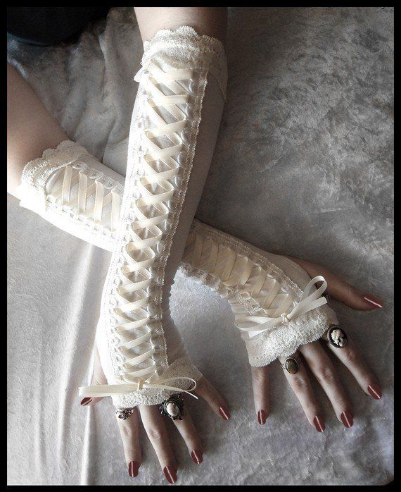 hanntjel's save of Porcelain Maiden Victorian Corset Laced Up Arm by ZenAndCoffee on Wanelo