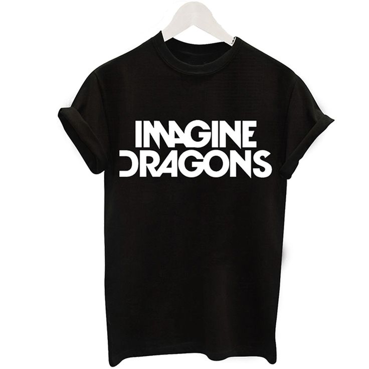 Summer 2017 Fashion T Shirt Women Black Funny T-shirt imagine dragons Letters Print Tshirt Short Sleeve Tee O-neck Tops Female