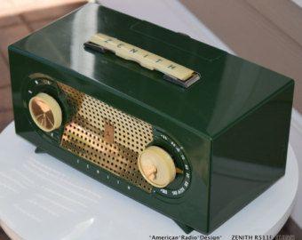 Zenith Mid Century Modern (1955) Retro Tube Radio Clean & Works. Free Shipping in USA -    Edit Listing  - Etsy