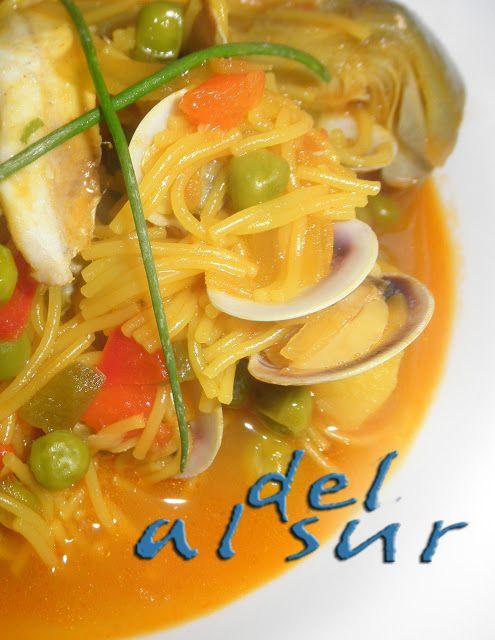La cocina malagueña-Alsurdelsur: Cazuela de fideo y boquerones
