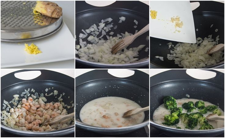 Wok de gambas y brócoli con jenjibre_Paso a paso