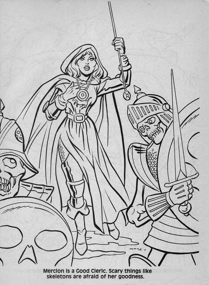 49 best advanced dungeons  u0026 dragons characters coloring