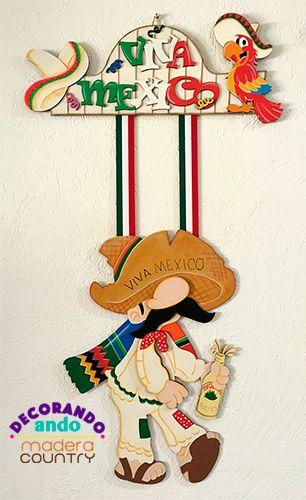 Colgante de Borrachito - Ideal para decorar en estas Fiestas Patrias.