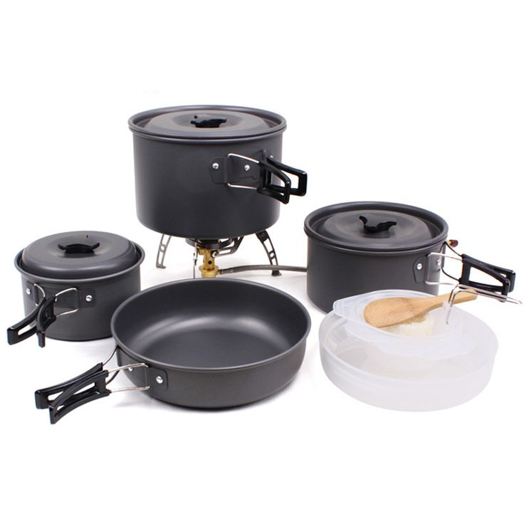 US$48.73 Feb Only. Outdoor Camping Tableware For Trekking Backpacking Cooking Picnic Outdoor Cookware Bowl Pot Pan Set Tourist Kitchen Tools EG03 -- Find similar beautiful pieces on  AliExpress.com. Just click the image #Camping