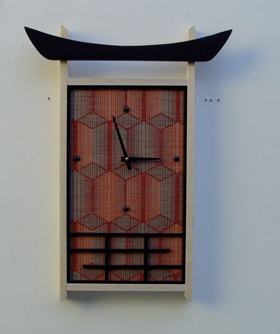 Contemporary Asian Wall Clock by takumidesigns24 on Etsy