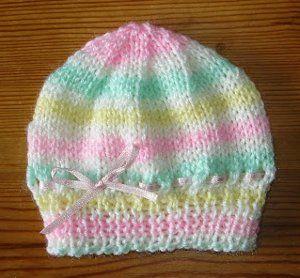 Sweet Ribbon Hat free knitting pattern
