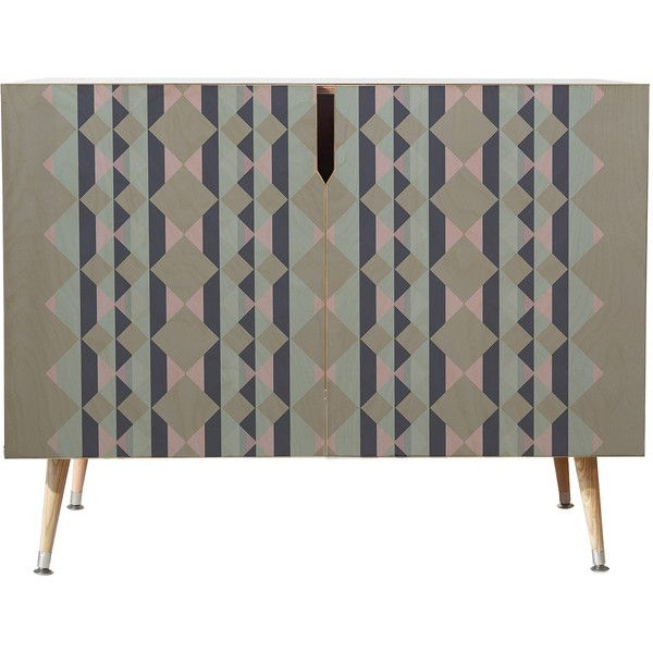 Dot & Bo Ruby Mountain Credenza - Wood Legs (1,040 CAD) ❤ liked on Polyvore featuring home, furniture, storage & shelves, sideboards, gray furniture, grey furniture, storage buffet, southwestern furniture and storage furniture