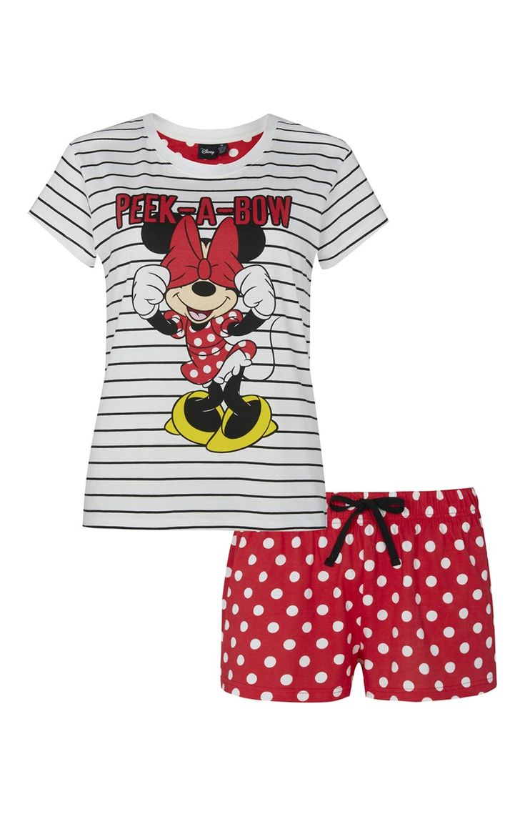 Pijama a rayas de Minnie Mouse