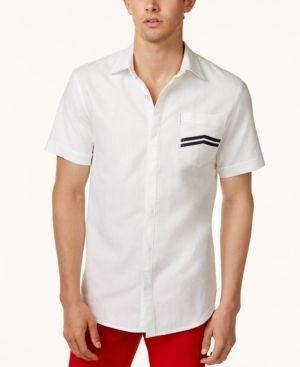 Armani Exchange Men's Chevron Pocket Shirt - White XXL