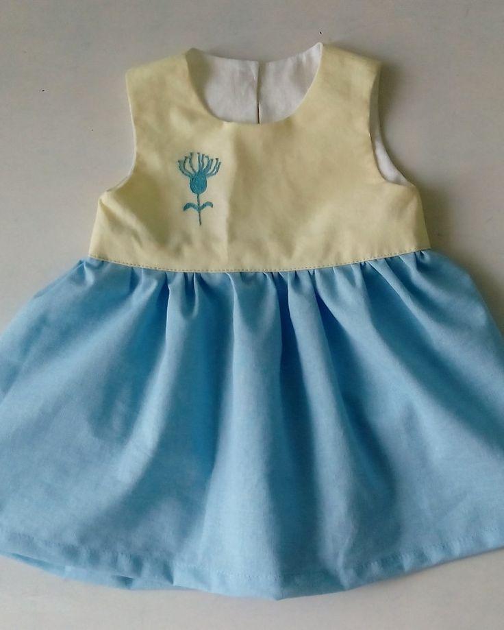 Хлопковое платье с вышивкой для девочки от годика до 1,5 лет
