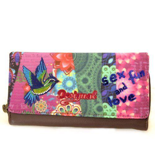 """In Offerta! #Offerte Abbigliamento#Buoni Regalo   #Outlet Portafogli portassegni 'french touch' """"Desigual""""marrone multicolore rosa. disponibile su Kellie Shop. Scarpe, borse, accessori, intimo, gioielli e molto altro.. scopri migliaia di articoli firmati con prezzi da 15,00 a 299,00 euro! #kellieshop #borse #scarpe #saldi #abbigliamento #donna #regali"""