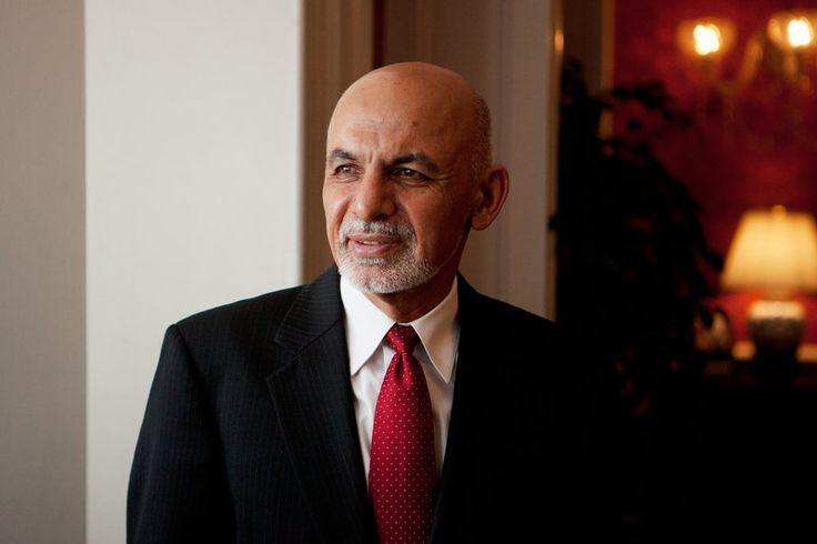 Afghan President Ashraf Ghani at the Blair House in Washington, D.C. Ghani will be meeting with President Obama this week.