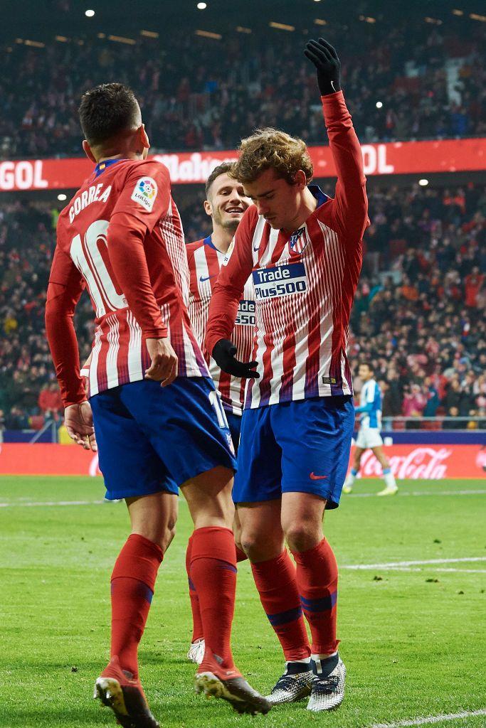 Antoine Griezmann Of Atletico De Madrid Celebrates After Scoring His Antoine Griezmann Griezmann Club Atlético De Madrid