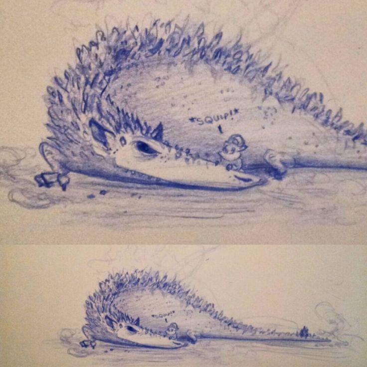 A rat dragon with a small snack… #dragon #ratdragon #critter #smallsnack #dryskin #sketch #nibbles