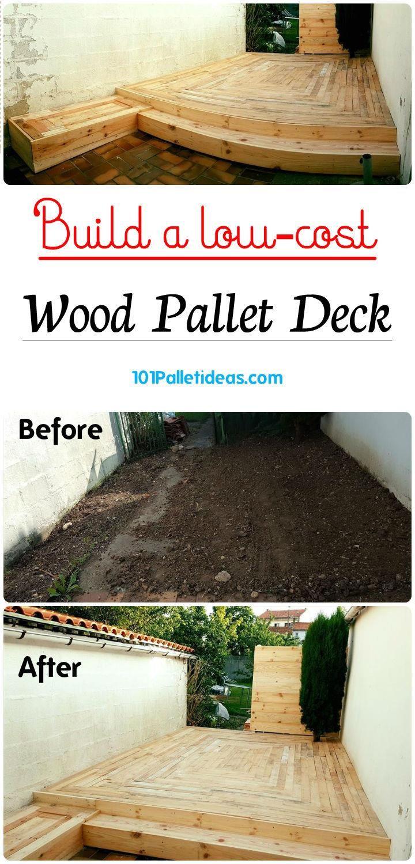 Build a low-cost Wood Pallet Deck | 101 Pallet Ideas