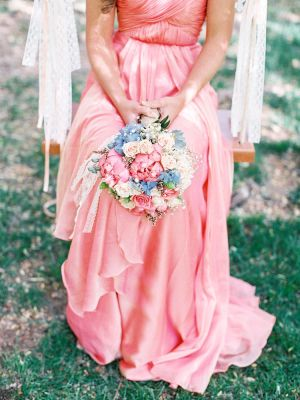 Pink Silk Bridesmaid Gown   photography by http://featherandstone.com.au