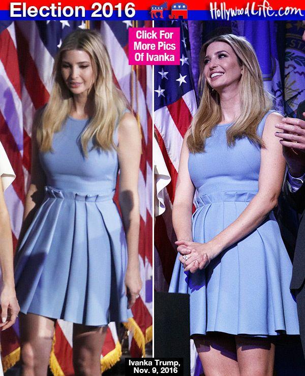 [PICS] Ivanka Trump's Election Night Dress: Slays In Powder Blue Look At Party - Hollywood Life