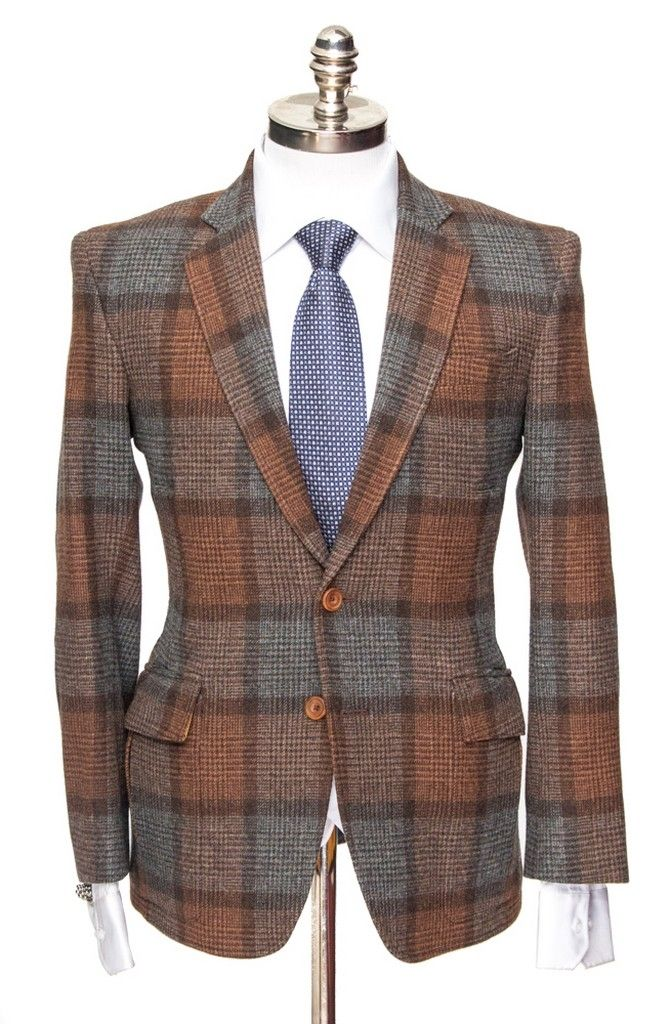 A dapper look, in this TURNBULL & ASSER Ashby Classic Fit Wool Plaid 2Btn  Coat