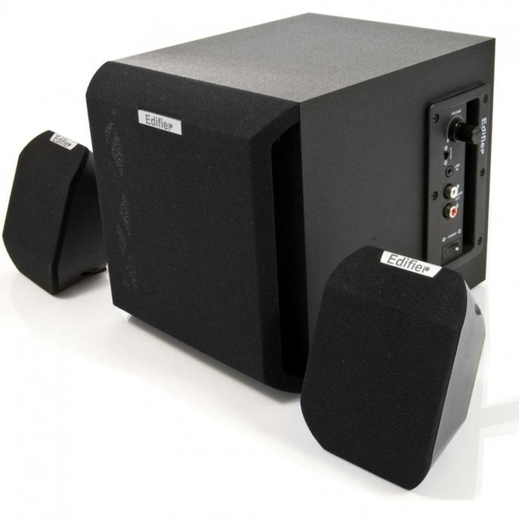 Edifier X100: Caixa de Som 2.1Ch 15W RMS em MDF c/ Blindagem Magnética e Ajuste de Graves