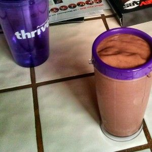 Butterfinger Flavor shakeology -  1 cup of Almond milk (unsweetened) 1 scoop of chocolate Shakeology 1 tablespoon of PB2 1 tablespoon of Butterscotch pudding mix  2 tablespoons of thin slivers of almonds  Add ice to taste