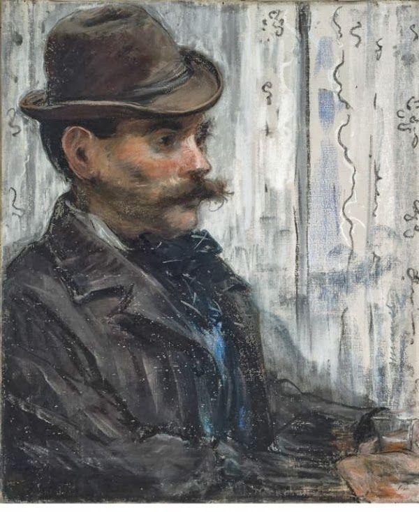 Άνδρας με στρογγυλό καπέλο ή Πορτρέτο του Alphonse Maureau (1880)