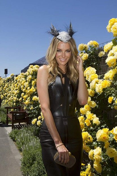Jennifer Hawkins at the Myer marquee at Derby Day at Flemington on Saturday 2 November  2013.