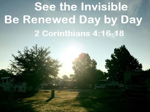 God Morning from Willis, TX Today is Sunday September 24, 2017 Day 267 on the 2017 Journey Make It A Great Day, Everyday! See the Invisible Be Renewed Day by Day Today's Scripture:2 Corinthians 4:16-18 https://www.biblegateway.com/passage/?search=2+Corinthians+4%3A16-18&version=NKJV the things which are not seen are eternal.... Inspirational Song https://youtu.be/lNVCcph6cnI