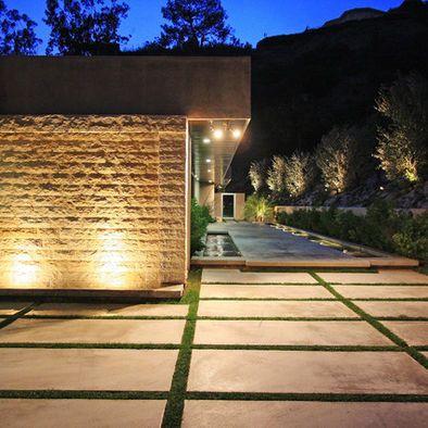 Large Scale Poured Concrete Pavers