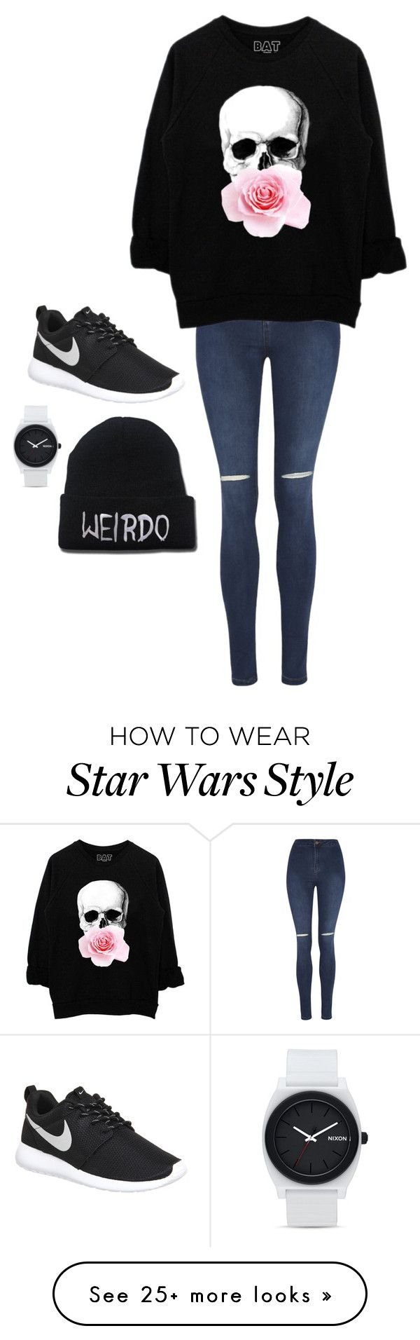 """Untitled #2686"" by if-i-were-famous1 on Polyvore featuring George, NIKE, Nixon, women's clothing, women's fashion, women, female, woman, misses and juniors"