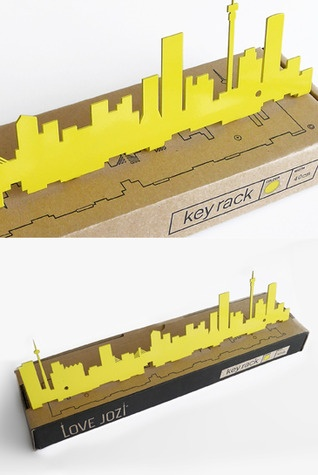 Keyrack of the iconic Johannesburg Skyline. Available in a variety of colours.