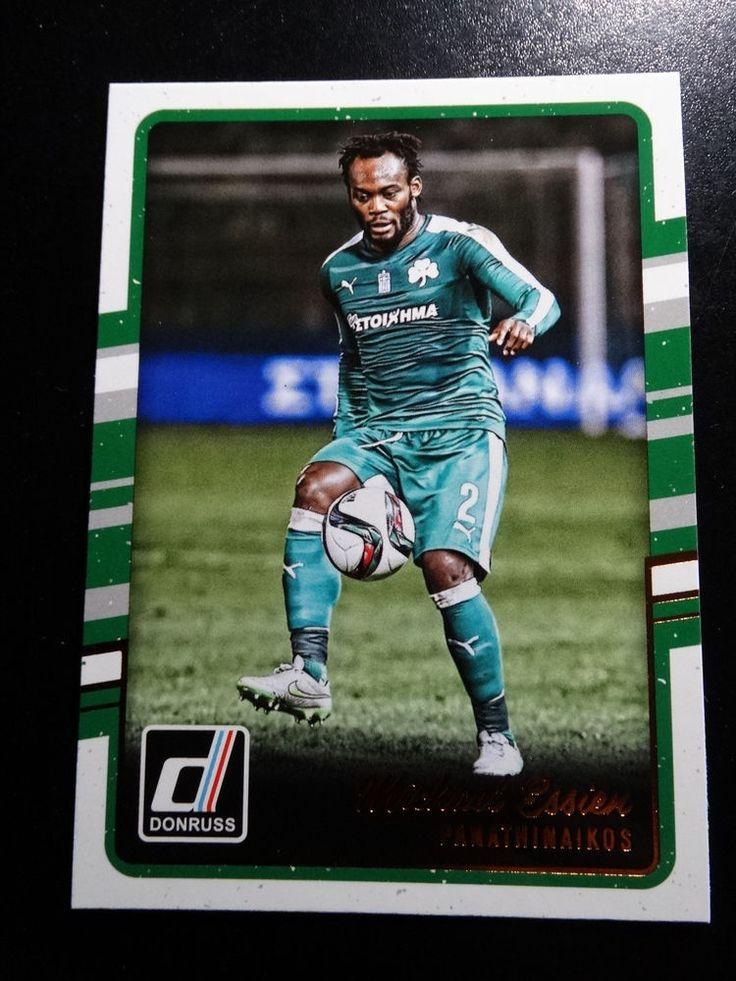 2016-17 Donruss Soccer #6 Michael Essien Panathinaikos Card  #Panathinaikos